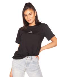 LA Sisters 'Basic Mini Logo Tee' - zwart