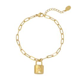 Armband 'Little Lock' - goud
