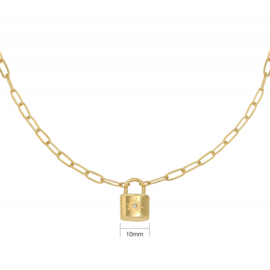 Ketting 'Little Lock' - goud