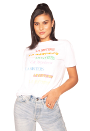 LA Sisters 'Colourfull Tee' - wit