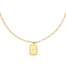 Ketting 'Cross' - goud