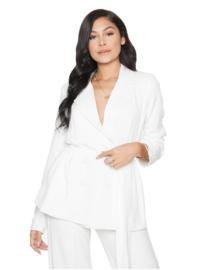 LA Sisters 'Belted Blazer Jacket' - wit