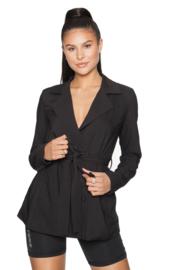 LA Sisters 'Belted Blazer Jacket' - zwart
