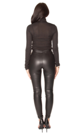 LA Sisters 'Faux Leather Legging' - zwart