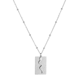 Ketting 'Snake' - zilver