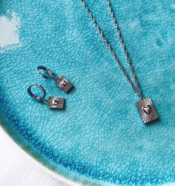 Ketting 'Show Me Love' - zilver