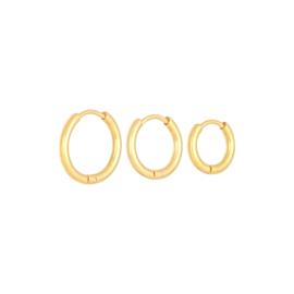 Oorbellen 'Little Hoops Set' - goud