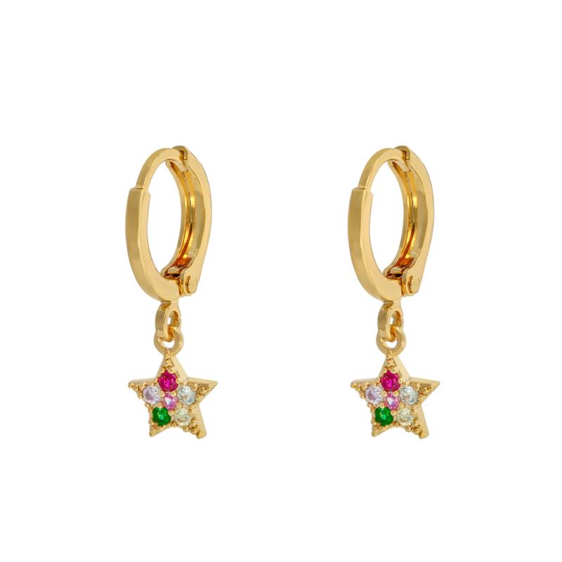 Oorbellen 'Sparkle Star' - goud