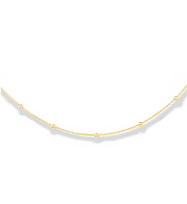 LA Sisters 'Dots Necklace' - goud