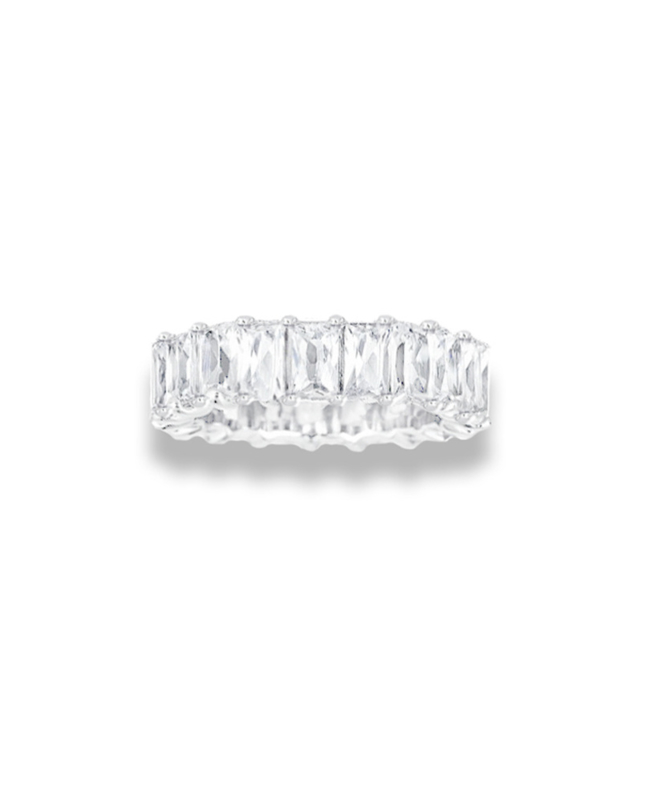 LA Sisters 'Baguette Eternity Ring' - zilver