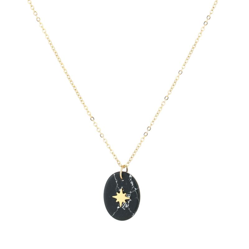 Ketting 'Marble Star' - goud