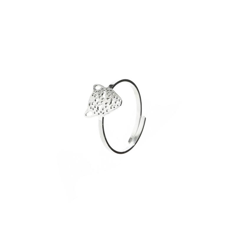 Ring 'Leopard' - zilver