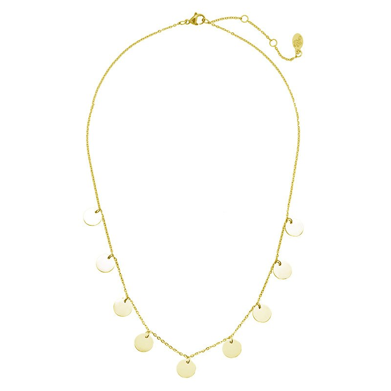 Ketting 'Only Circles' - goud