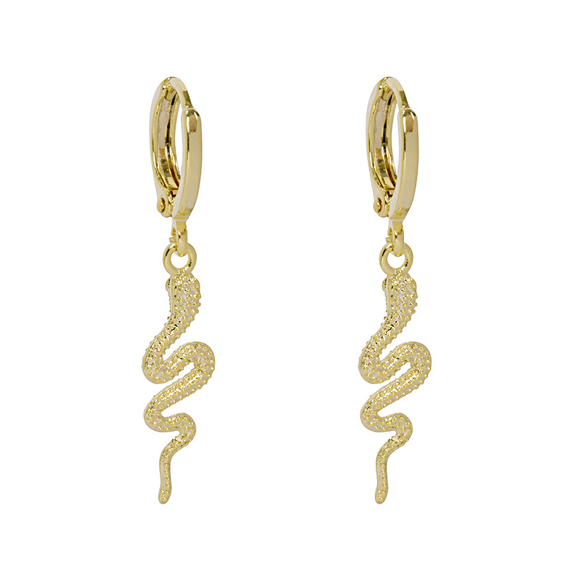 Oorbellen 'Special Snake' - goud