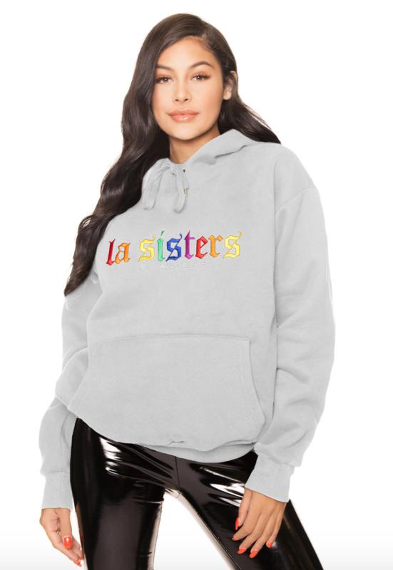 LA Sisters 'Rainbow Hoodie' - grijs