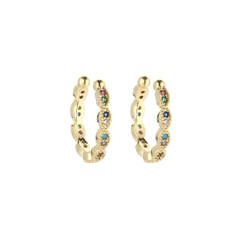 Earcuff 'Color Strass' - goud