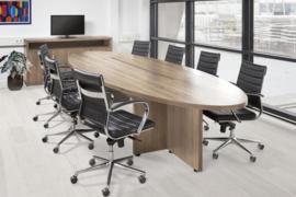 Manager vergadertafel ellips groot 420x138 cm.