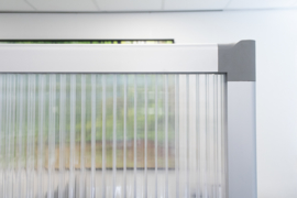 Scheidingswand semi-transparant 120x180 cm.
