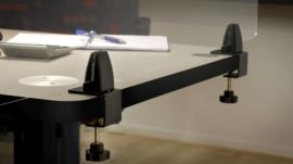 Hygienescherm tafelbevestiging - 160x60 cm. (4mm.)