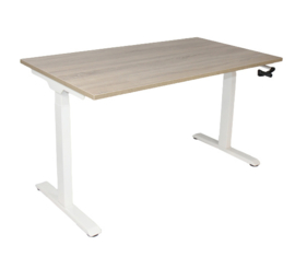 Slinger verstelbaar zit-sta frame/bureau wit