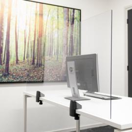 Scheidingsscherm Bureau/Tafel, Plexiglas 160x58 cm.