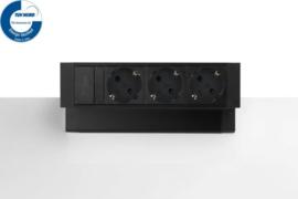 Power Desk Up® 2.0 - 3x 230V - Zwart