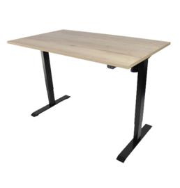 Elektrisch verstelbaar zit-sta frame/bureau zwart