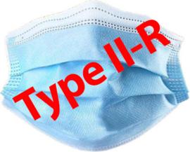 Type II-R Chirurgische mondkapjes, 3-laags