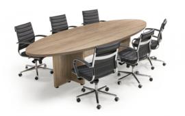 Manager vergadertafel ellips klein 320x120 cm.
