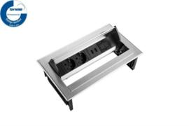 Power Desk In - 2x 230V + 2x USB Charger + 1x Keystone - Inox RVS
