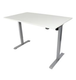 Elektrisch verstelbaar zit-sta frame/bureau grijs