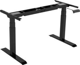 Elektrisch verstelbaar zit-sta deluxe frame/bureau (2-motorig)
