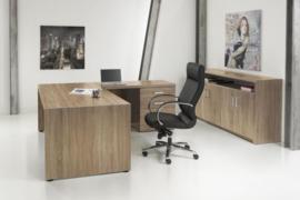 Manager hoekbureau 210x210 cm. + ladenblok