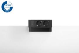 Power Desk Up® 2.0 - 2x 230V - Zwart