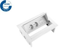Power Desk In - 2x 230V + 1x Keystone - Wit