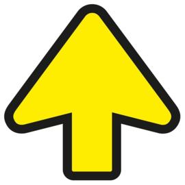 Vloersticker pijl geel / zwart
