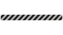 Vloersticker rechte lijn licht grijs / zwart
