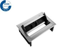 Power Desk In - 2x 230V + 1x Keystone - Inox RVS