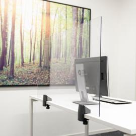 Scheidingsscherm Bureau/Tafel, Plexiglas 120x58 cm.