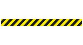 Vloersticker rechte lijn geel / zwart