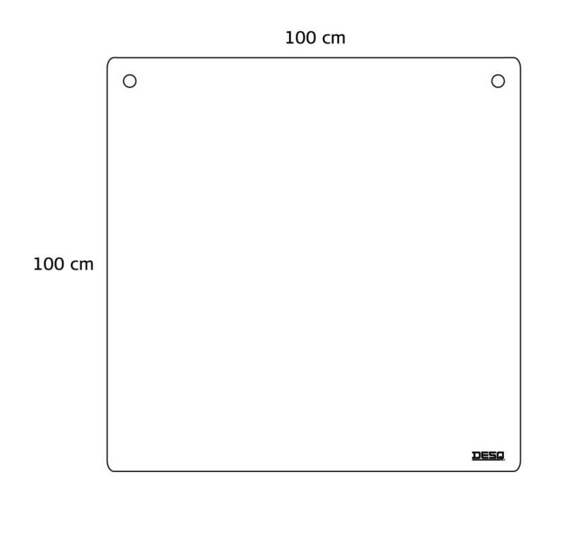 Plexiglas hangscherm B100xH100 cm.