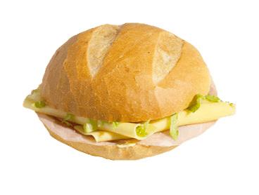 Broodje Ham kaas met mosterd