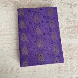 Notebook vintage sari paars