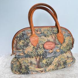 Vintage gobelin borduurwerk tas