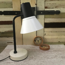 Zwart/wit staand lampje Yin Yang