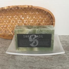 Natuurlijke zeep Sweet basil
