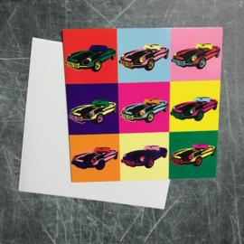 Ansichtkaart Jaguar E-type pop-art