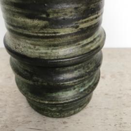 Stoere vintage vaas groen