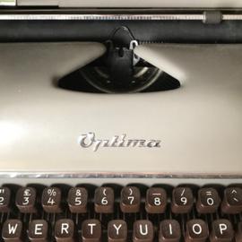 Typemachine met koffer Optima