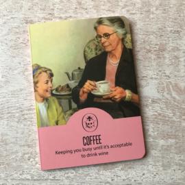 Vintage notebook Coffee & Wine